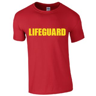 LIFEGUARD RED T-SHIRT